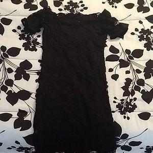 Brand New lace black off the shoulder dress